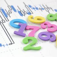 グラフと数字の画像