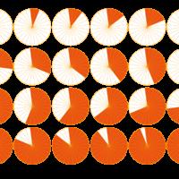 円グラフが並んでいる図