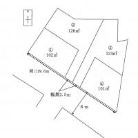 請求人が主張する土地の分割図