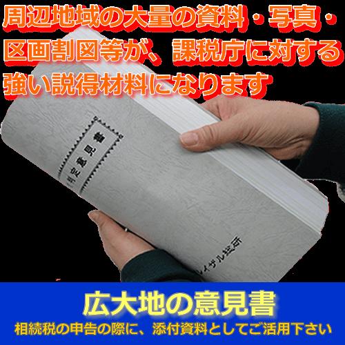 広大地意見書 相続税の申告の際に添付資料としてご活用ください
