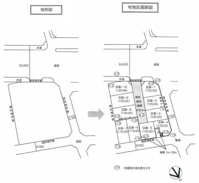 10月9日文中の宅地区画割図