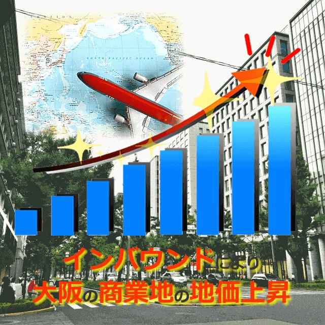 インバウンドによる大阪の商業地の地価上昇
